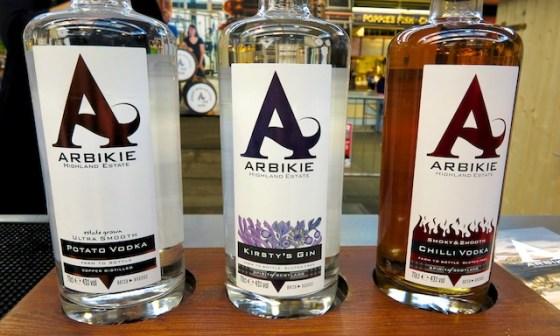 Arbike gin and vodka