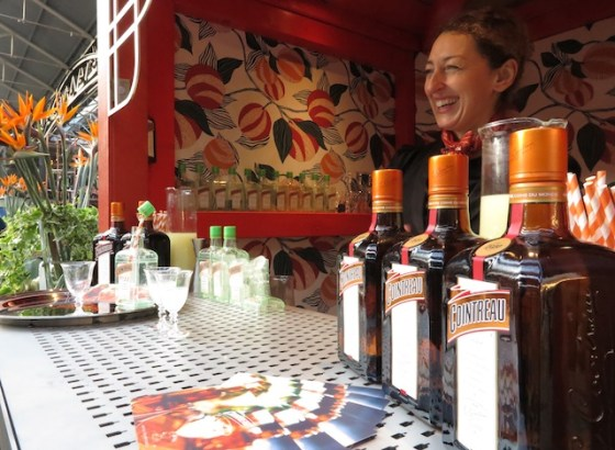 A peek inside the Cointreau kiosk