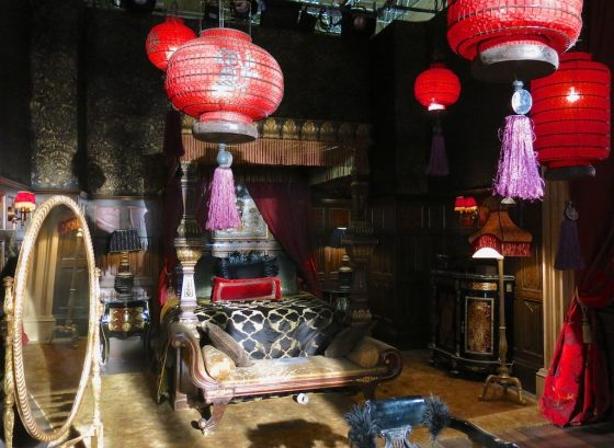 """Bedroom of King Cyrus from the set of """"The Royals"""" E! television series"""