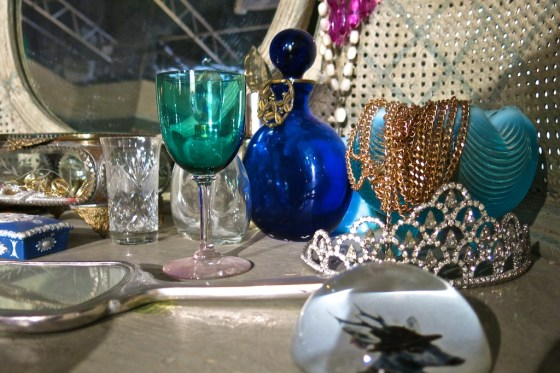 "Princess Eleanor's bedside table, taken on the set of ""The Royals"" E! tv series"