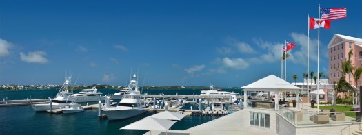 The Hamilton Princess and Beach Club, which has its own marina, is the official hotel partner for the 2017 America's Cup. Courtesy Hamilton Princess and Beach Club.