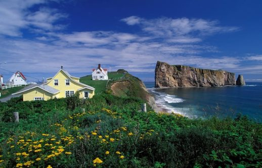 The final leg of TDA Global Cycling's cross-country bicycle tour of Canada takes in the coastal beauty of the aptly-named Gaspe Peninsula. Courtesy TDA Global Cycling.