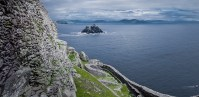 Little Skellig, seen from Skellig Michael's old monastic ruins. Skellig Michael features in the latest Star Wars trilogy. Credit @storytravelers