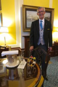 Steven Dunn is one of the butlers who attends to guests at The Lanesborough. Every room at the hotel includes butler service. Copyright Amy Laughinghouse.
