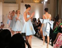 Baby blue, buns and bows play a strong role in Isabell Kristensen's 2017 Royal Ascot Couture Collection.