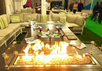 Fire and ice coffee table for your garden, courtesy of Moda Furnishings.