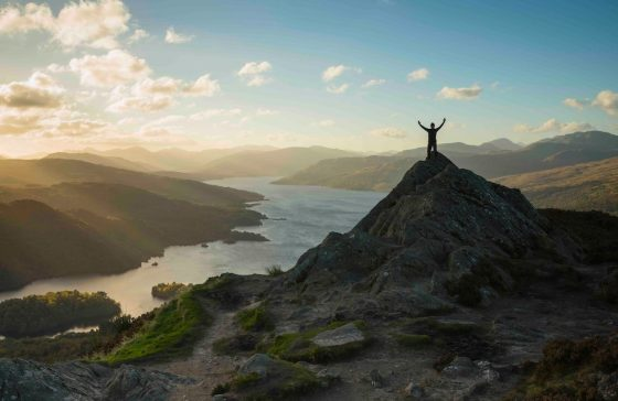Ben A-an in the Loch Lomond and Trossachs National Park with views over Loch Katrine