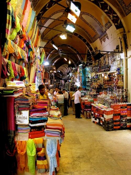 Istanbul Grand Bazaar vertical interior