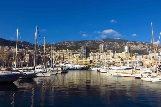 Port Hercules, Monte Carlo, Monaco with yachts by day. Copyright Amy Laughinghouse