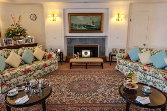 Royal Yacht Britannia State Drawing Room. Copyright Amy Laughinghouse