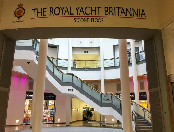 Visitors to the Royal Yacht Britannia enter through...a shopping mall.