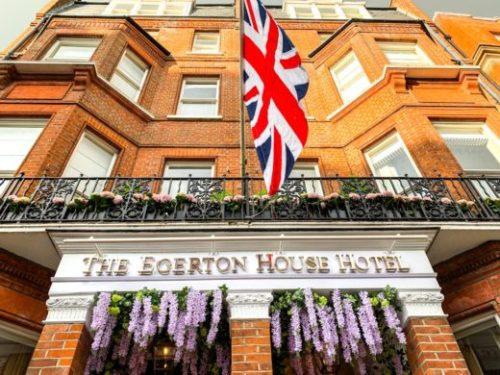 The Egerton House Hotel in Knightsbridge festooned in wisteria