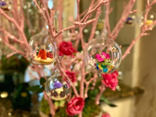 sweets and fairy cakes cupcakes dangle from tree branches