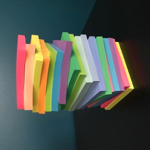 sticky notes for timeline - Work in Progress blog by Amy LeTourneur