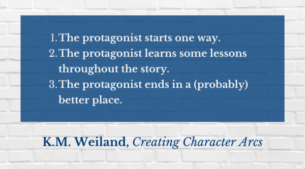 KM Weiland character arc quote - Work in Progress Blog by Amy LeTourneur