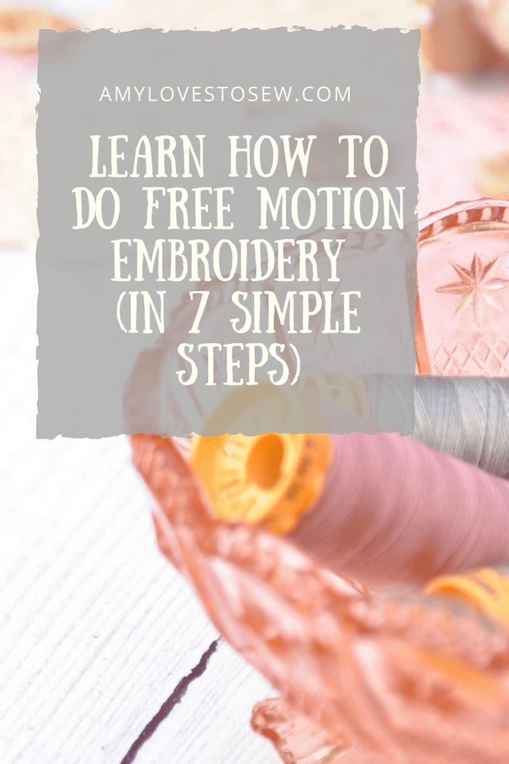 Tips for free motion embroidery