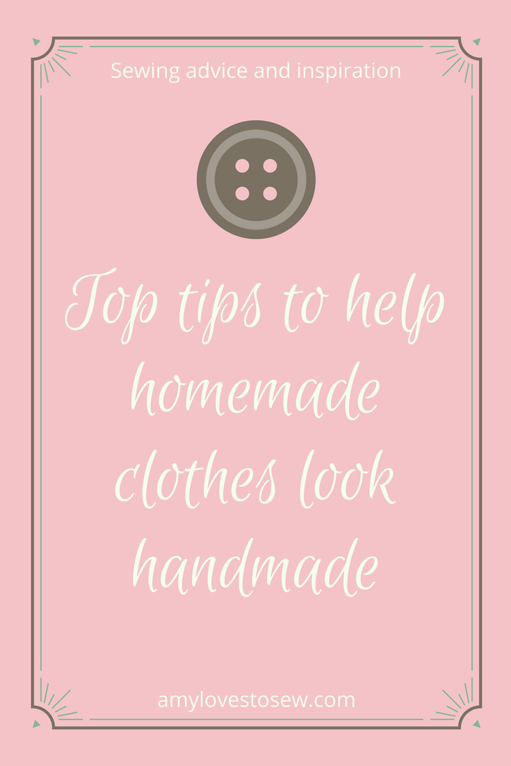Make homemade clothes look handmade