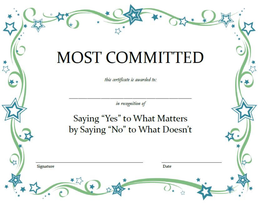 Award for Saying No