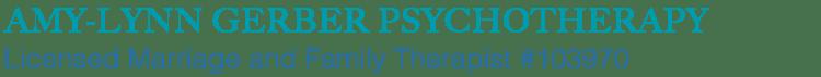 Amy-Lynn Gerber Psychotherapy Los Angeles