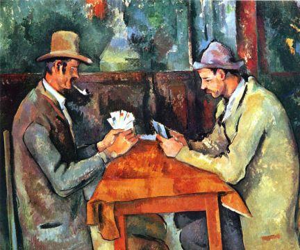 Paul Cezanne card players 1892-5