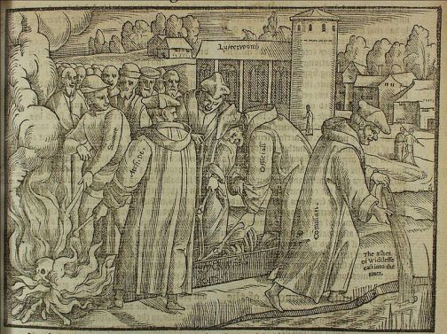 800px-Wycliffe_bones, John Foxes Book of Martyrs, 1563