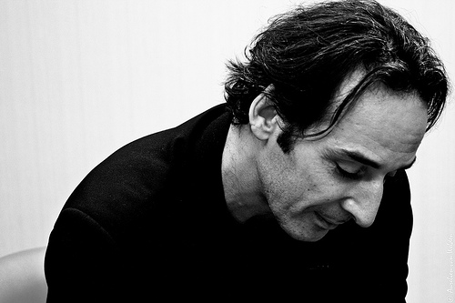 Film composer Alexandre Desplat as photographed in 2009 by Arelien van Welden.  Photo by Flickr user Le P'tit Zouave - LPZ Digital Media
