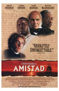 """The theatrical release poster for """"Amistad"""", copyright Dreamworks Pictures (1997)"""