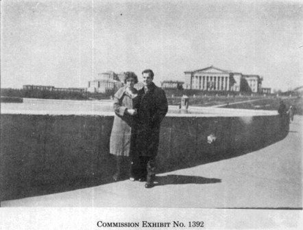 Lee Harvey Oswald and Marina Oswald in Minsk.  Warren Commission Exhibit