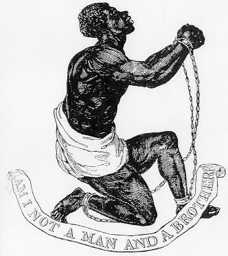 Official medallion used by the British Anti-Slavery Society, designed by Josiah Wedgwood and others, circa 1795