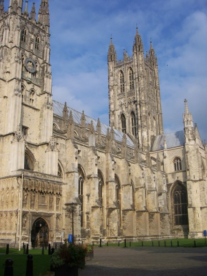 Canterbury Cathedral, seat of the Archbishop of Canterbury, highest ranking official in the Church of England and worldwide Anglican Communion.