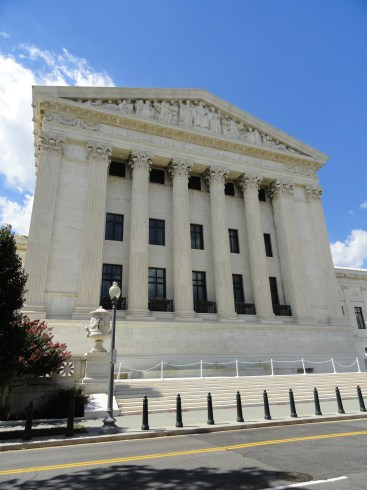 The Supreme Court viewed from its less famous east side.