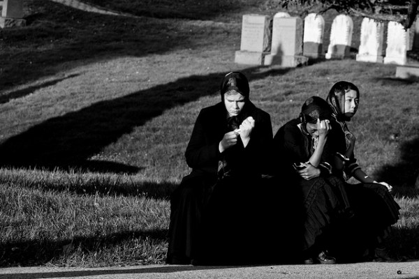 A dance company reenacts a funeral right based on professional mourners in Italy. Flickr photo by Dave Bledsoe