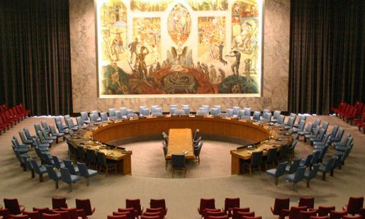 The UN Security Council chamber, where Russia and China have been known to make use of their vetoes to frustrate the designs of Western powers. Photo by Wikipedia user Patrick Gruban