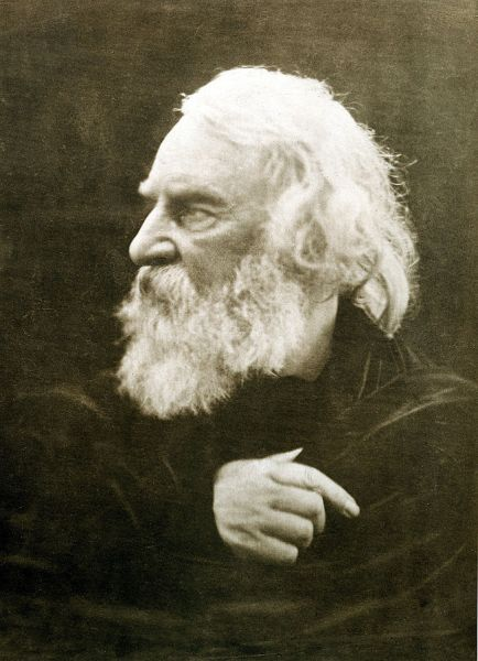 Henry Wadsworth Longfellow photographed in 1868 by Julia Margaret Cameron.