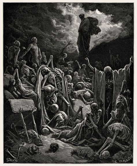 """The Vision of the Valley of the Dry Bones"" by Gustave Doré, circa 1866"