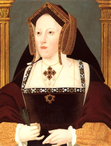 Queen Katherine of Aragon painted by Lucas Hornebolte.