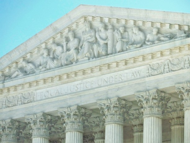 Engraving above the entrance to the U.S. Supreme Court - author photo