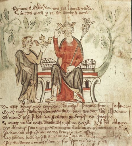 King Edward II of England depicted in a medieval manuscript. (Public domain)