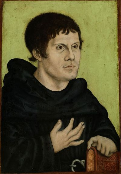 Posthumous portrait of Luther as an Augustinian monk by Lucas Cranach the Elder