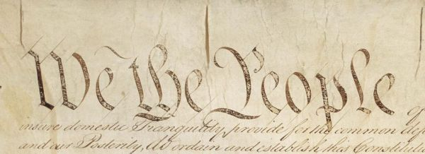 First words of the United States Constitution