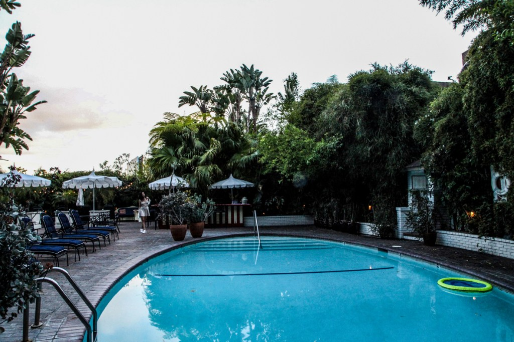 chateau marmont photoshoot pool