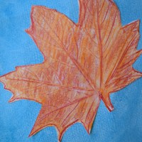 Art With Kids: Leaves with Crayon and Watercolor Resist