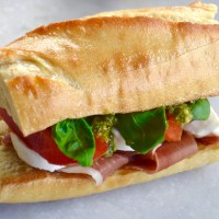 The Substantial Sandwich: An Italian Caprese and Prosciutto Sandwich