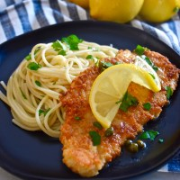 Parmesan Crusted Chicken Piccata