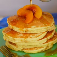 Celebrating the Everyday With Peach Pancakes