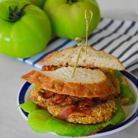 Tortilla Chip Fried Green Tomato BLT