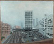 From the Peters St Viaduct, 2012. Acrylic on canvas