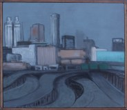 To Downtown, 2016. Acrylic on canvas