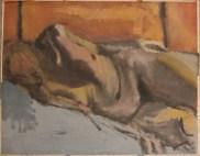 Nude Under Flourescent Lights, 1985. Acrylic on paper