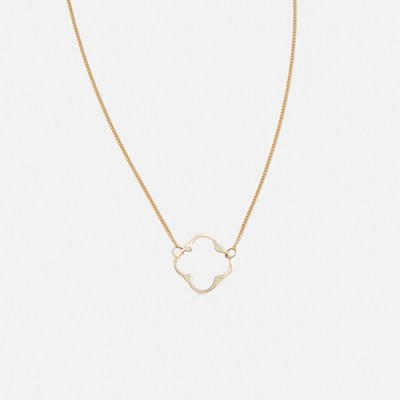 Clover-Necklace-Yellow-Gold